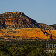 Red And Green Plateau New Mexico Art Print