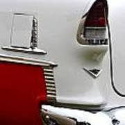 Red And White 1955 Chevy Art Print
