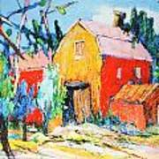 Red And Yellow Barn Art Print