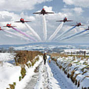 Red Arrows Over Epen Art Print