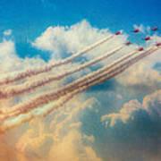 Red Arrows Smoke The Skies Art Print