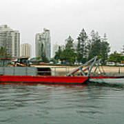 Red Barge Art Print