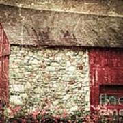 Red Barn Enhanced Art Print