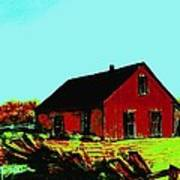 Red Barn   Number 5 Art Print