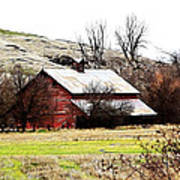 Red Barn Art Print by Steve McKinzie