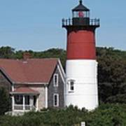 Red Beacon On Nauset Light Art Print