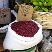 Red Beans At Nicaragua Market Art Print
