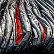 Red Between The Lines Art Print