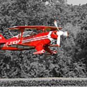 Red Biplane Art Print