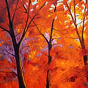 Red Blaze Art Print by Nancy Merkle