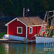 Red Boat House Art Print