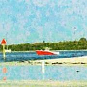 Red Boat Outing Art Print