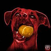 Red Boxer Mix Dog Art - 8173 - Bb Art Print