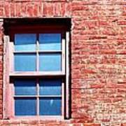 Red Brick Window Art Print