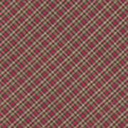 Red Brown And Green Diagonal Plaid Pattern Fabric Background Art Print