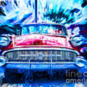 Red Buick  Art Print