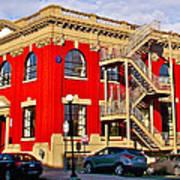 Red Building On Water Street In Saint John's-nl Art Print