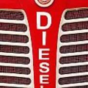 Red Bumper On Vehicle Labeled Diesel Art Print