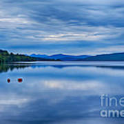 Red Buoys On Loch Rannoch Art Print