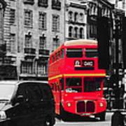 Red Bus Art Print