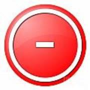 Red  Button Minus Art Print