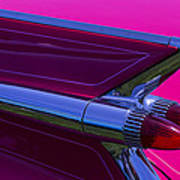 Red Caddy Tail Lights Art Print
