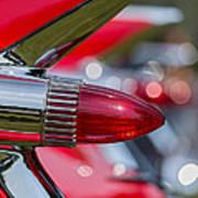 Red Cadillac Fins Art Print