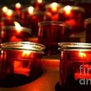 Red Candles Art Print