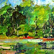 Red Canoe I Art Print by Charlie Spear