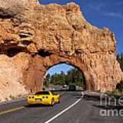 Red Canyon Near Bryce Canyon In Utah Art Print