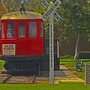 Red Car Museum In Seal Beach Ca Art Print