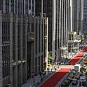 Red Carpet On 6th Ave Art Print