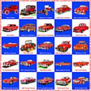 Red Cars Of America Art Print
