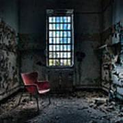 Red Chair - Art Deco Decay - Gary Heller Art Print