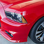 Red Charger 1508 Art Print
