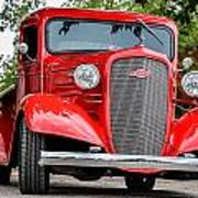 Red Chevy In Awesome Art Print