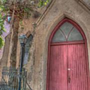 Red Church Door Art Print