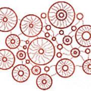 Red Circles Art Print