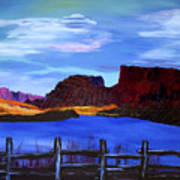 Red Cliffs On The Colorado Art Print
