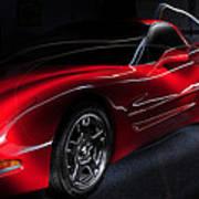 1997 Red Corvette Art Print