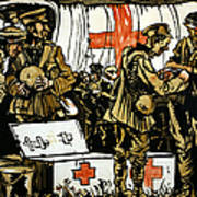 Red Cross Poster, 1915 Art Print