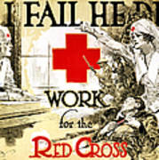 Red Cross Poster, C1918 Art Print