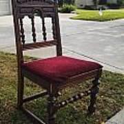 Red Cushion Chair Art Print