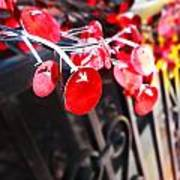 Red Decorations Art Print