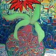 Red Diasy Art Print