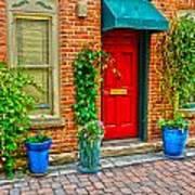 Red Door 5 Art Print by Baywest Imaging
