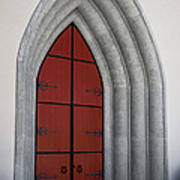 Red Door At Our Lady Of The Atonement Art Print
