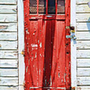 Red Door By Diana Sainz Art Print by Diana Sainz