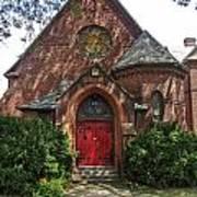 Red Door Church Art Print