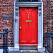 Red Door Dublin Ireland Art Print